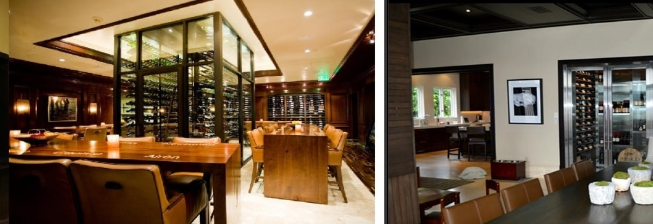 Contemporary Design for Home Custom Wine Cellars in Los Angeles, California