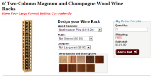 Check out our Custom Wine Racks for Magnum and Champagne