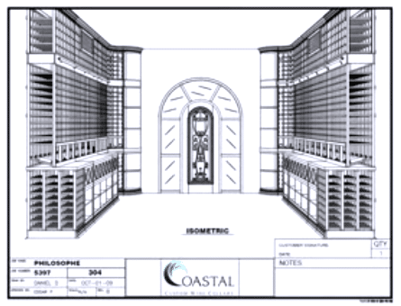 3D Wine Cellar Design Philosophe Project