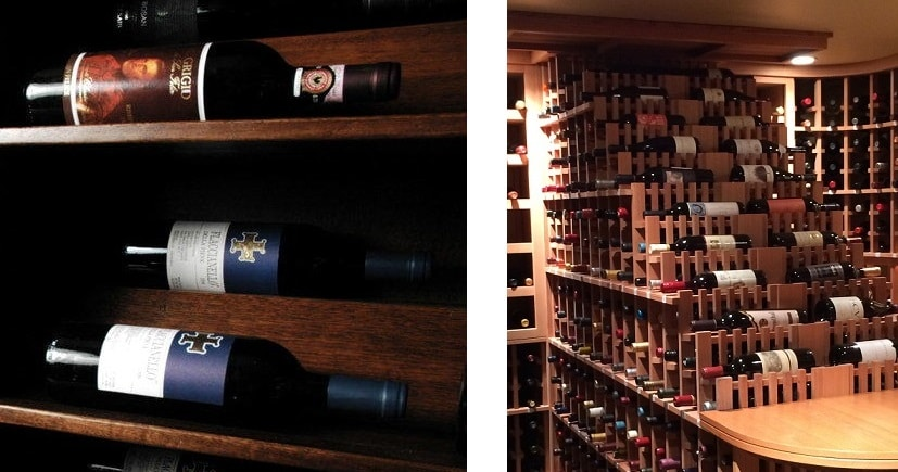 Wine racks in Los, Angeles, California come in various styles, shapes, and sizes.
