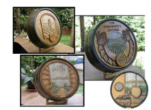 Wine Barrel Carvings - Custom Wine Cellar Design Los Angeles California