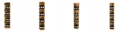 Curved Corner Wooden Wine Racks