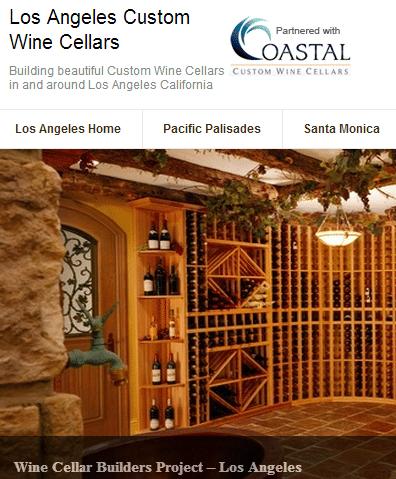 Custom Wine Racks Los Angeles California
