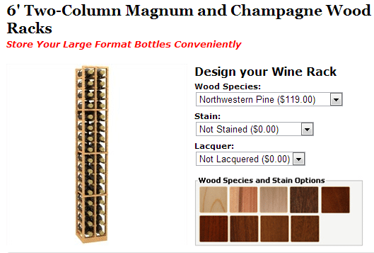 Magnum Wine Racks from Coastal Custom Wine Racks