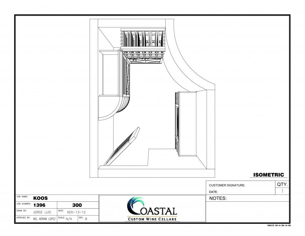 3D Wine Cellar Design - Custom Wine Cellars California Falcon Ridge