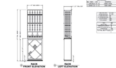 Elevation A - Wine Cellar Design California