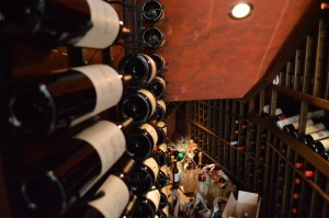 Mahogany Wine Racks - Wine Cellar Under Stairs