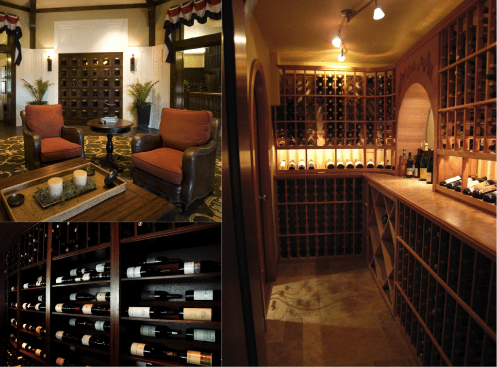 Some examples of Wine Cellar projects like my father I worked on in the California area.