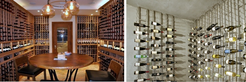 Custom wine racks los angeles custom wine cellars Traditional vs contemporary design