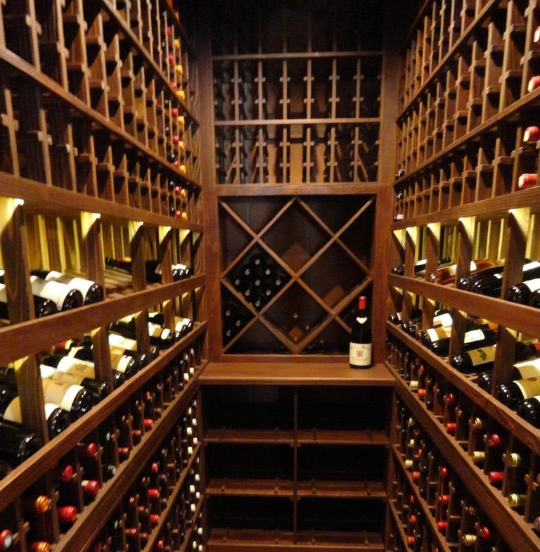 Custom wine cellar flooring material natural cork plank for Cost to build a wine cellar