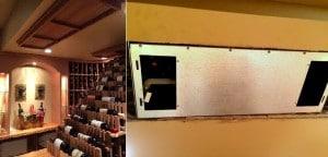 Wine cellar cooling unit installation