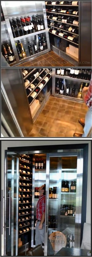Contemporary Wine Cellar with Efficient Wine Cellar Cooling Unit Installed