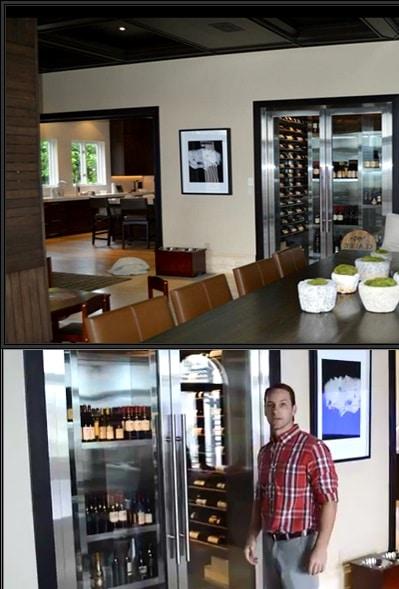 Contemporary Design Wine Cellar Built in Florida