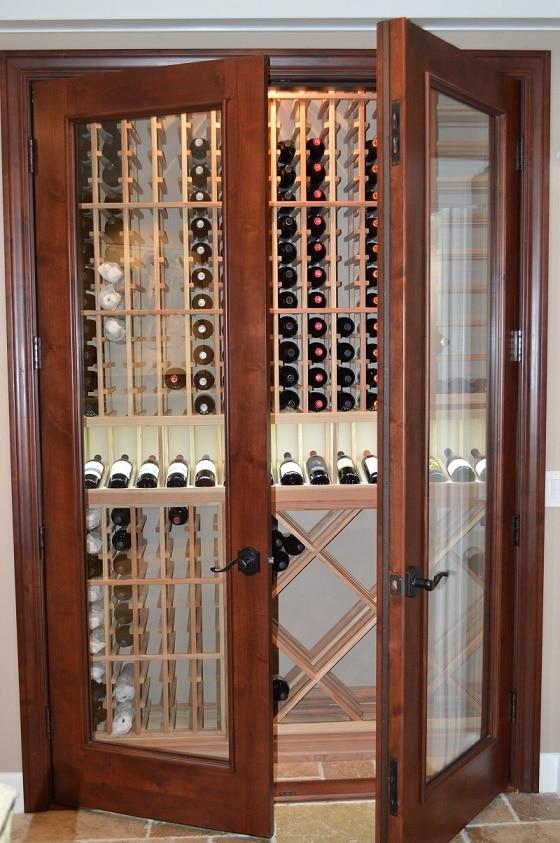 Elegant Barolo Style Glass Wine Cellar Door