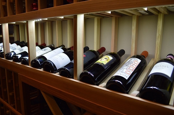 wine rack lighting. horizontal wine display with led lighting rack