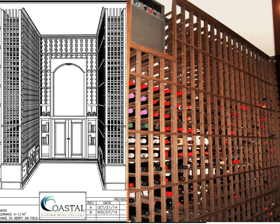 Los Angeles Custom Wine Cellars Finished Design