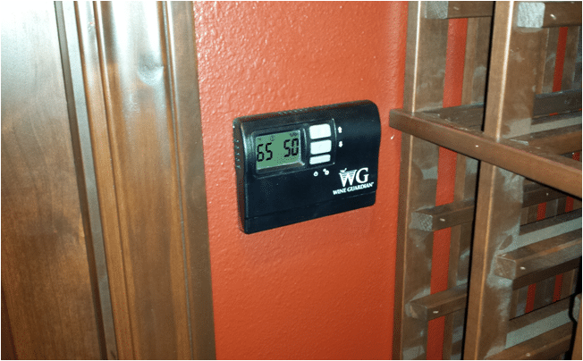 San Clemente Custom Wine Cellar Wine Guardian Thermostat