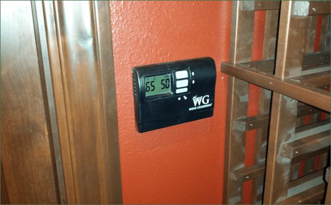 San Clemente Custom Wine Cellar Wine Guardian Thermostat