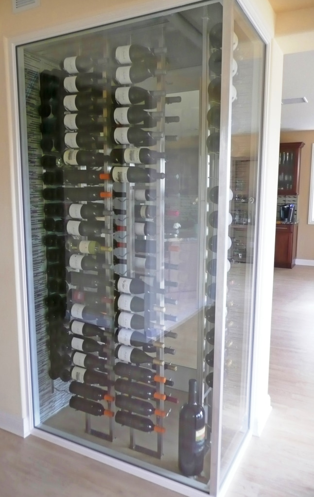 Vintage view metal wine racks los angeles custom wine cellars - Small space wine racks design ...