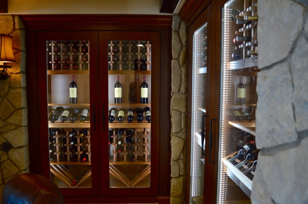 These four beautiful custom wine cabinets are housed in a luxurious residence in Three Arch Bay, Laguna Beach, California. David and his team from Arctic Metalworks Inc., had to install a refrigeration system that could adequately cool these wine storage structures.