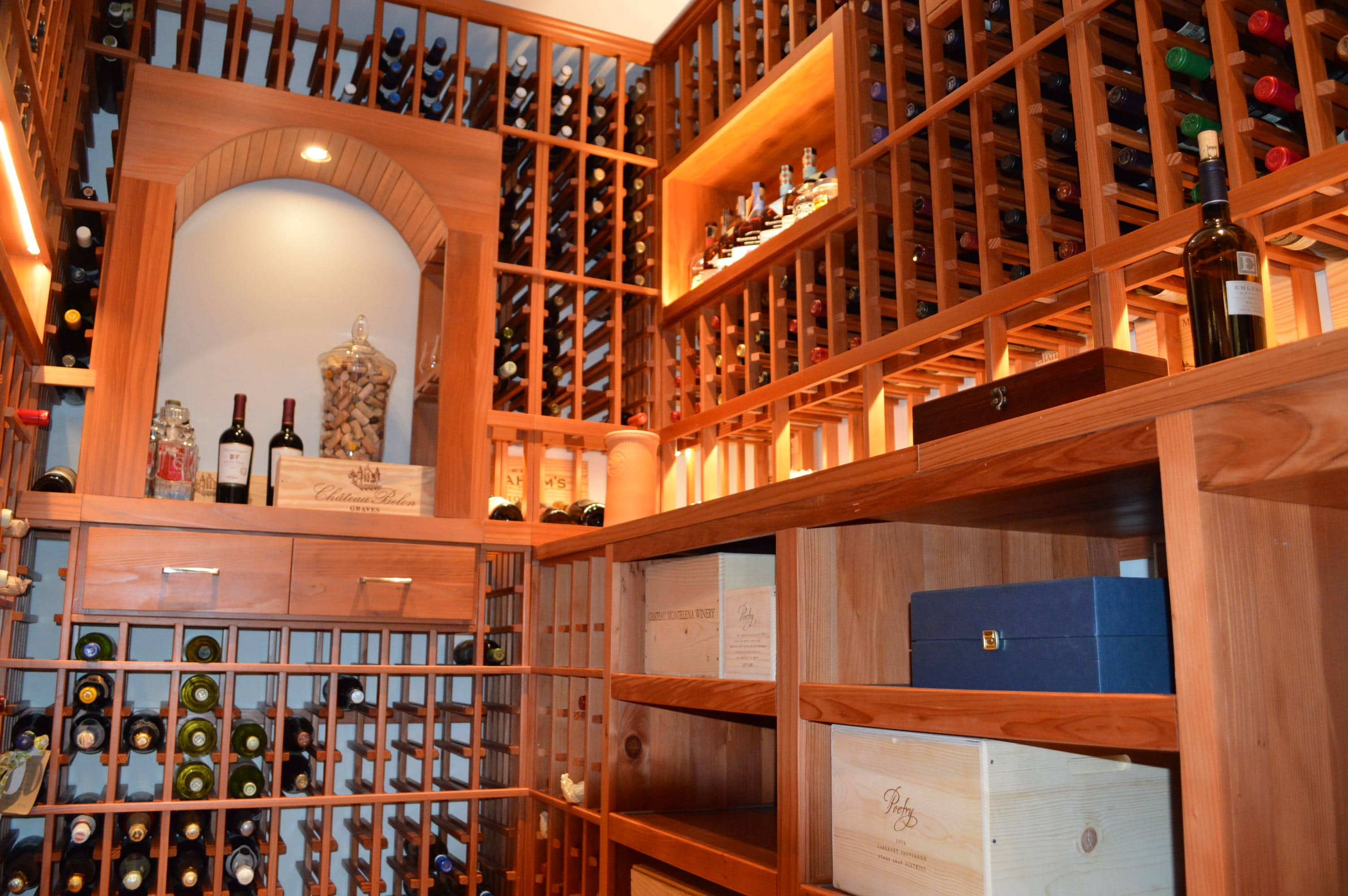 Beautiful Redwood Wine Cellar In Los Angeles California