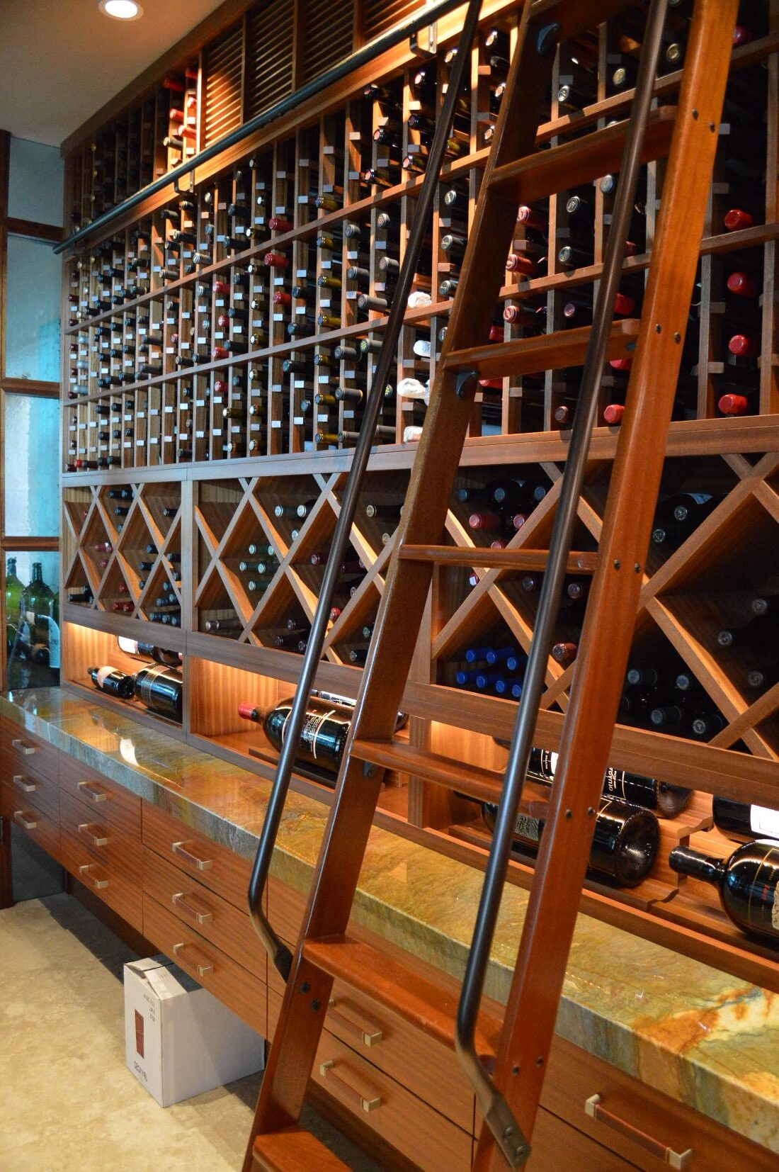 Custom Home Wine Cellar Design Los Angeles with Contemporary Features