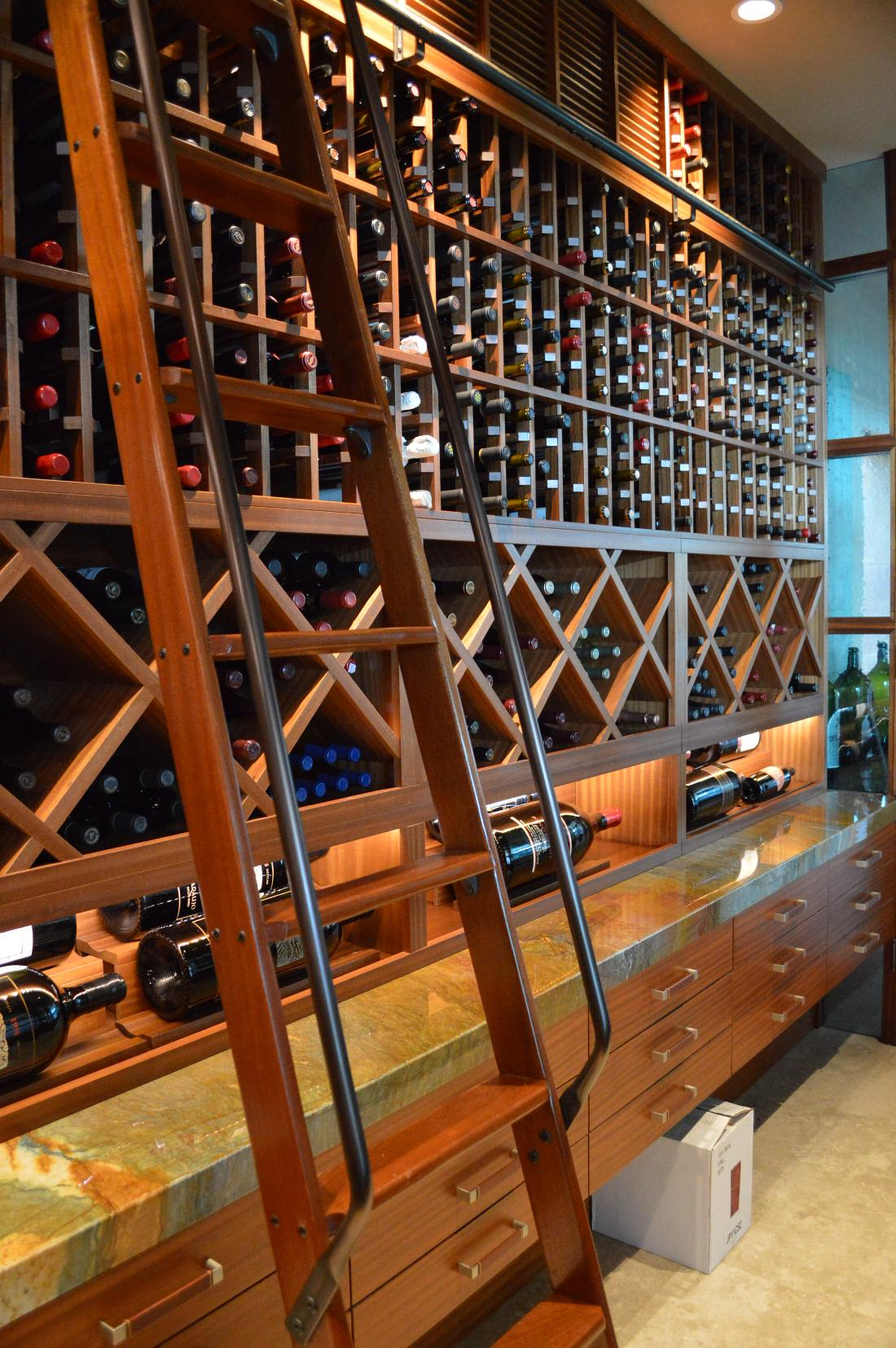 Custom Home Wine Cellar Design Los Angeles