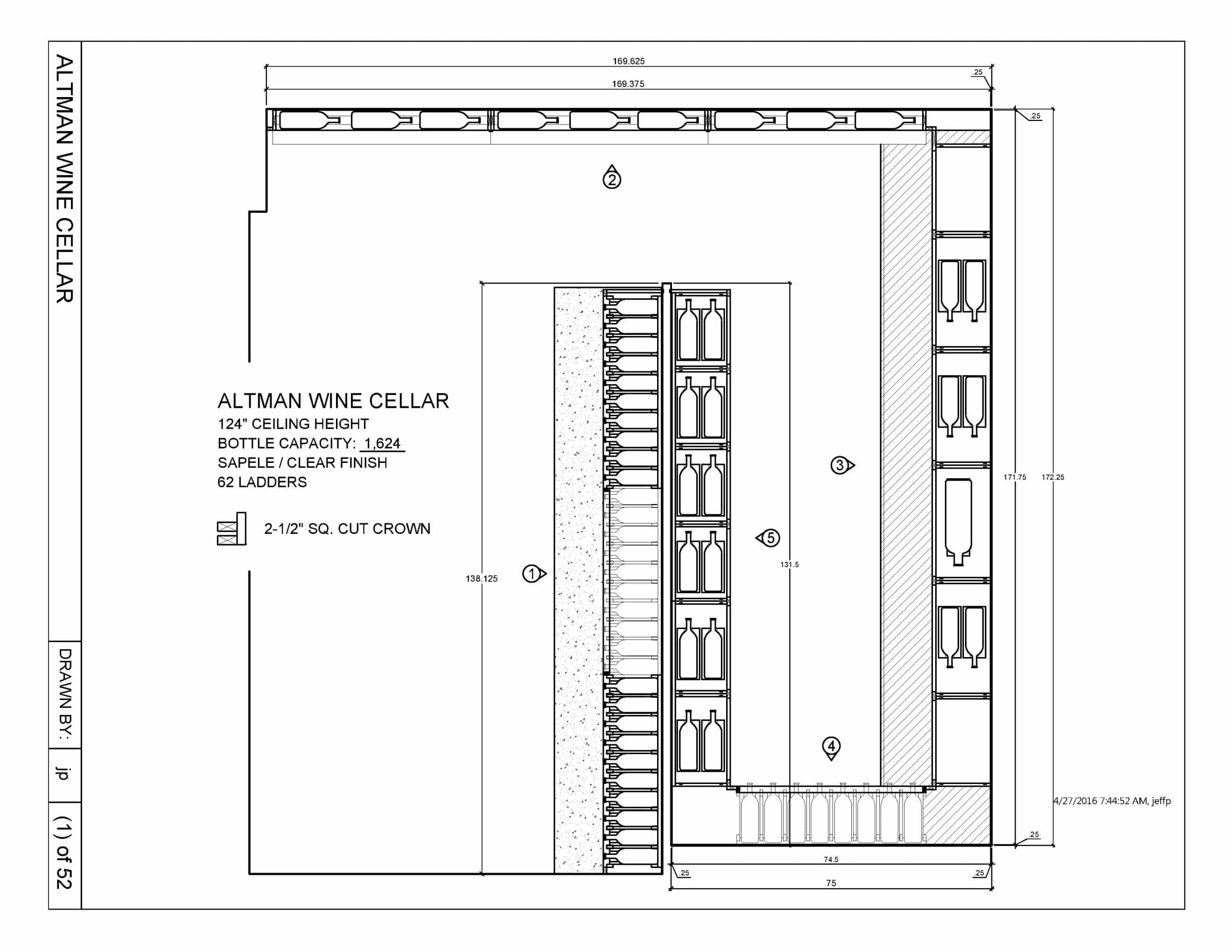 ... a Master Builder Doubled the Size of a Custom Wine Cellar in Los Angeles  sc 1 st  Custom Wine Cellars Los Angeles & Wine Cellar Drawing Los Angeles California Installation Project ...