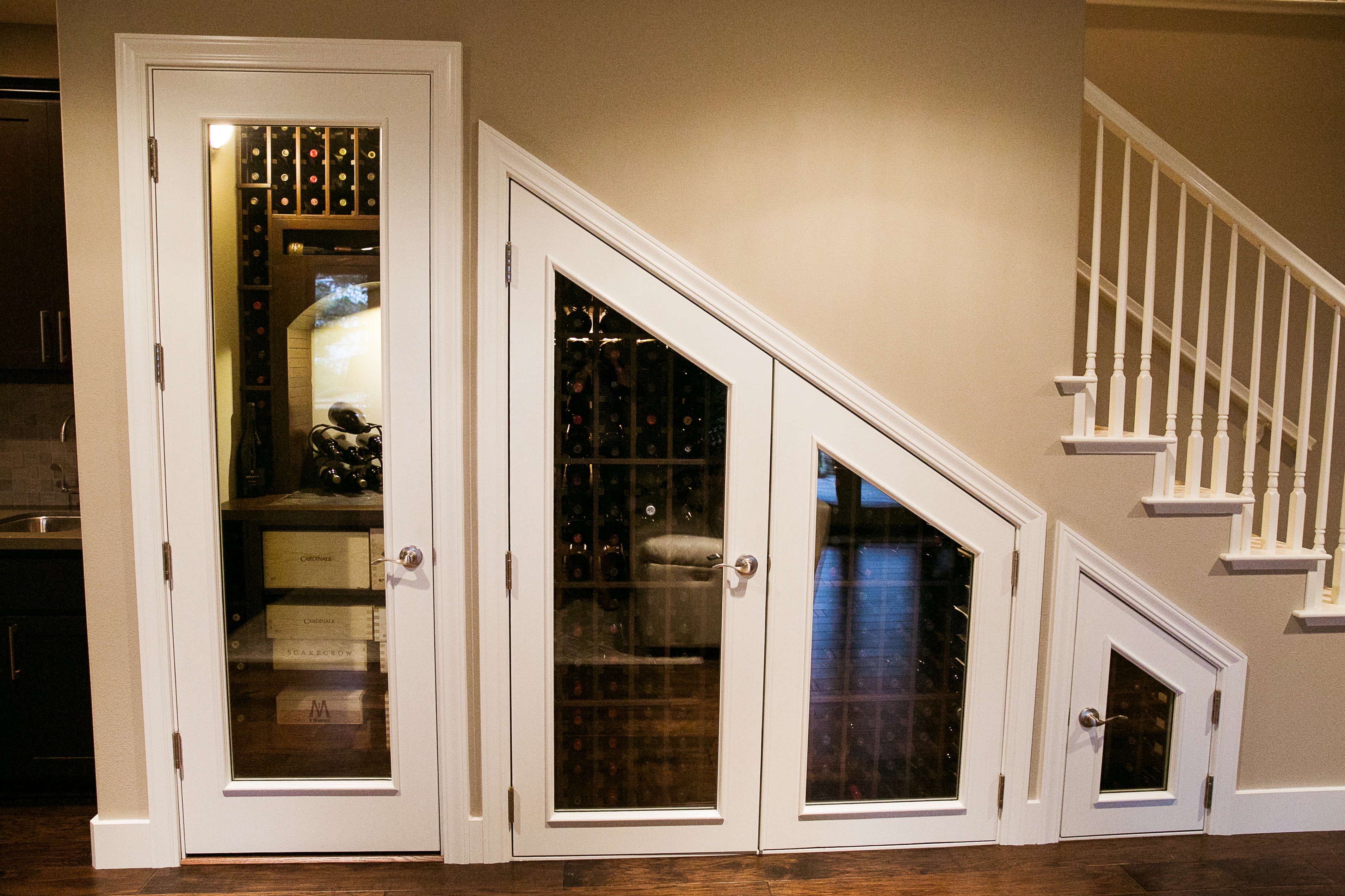 A Small Room Turned into a Lovely Wine Closet