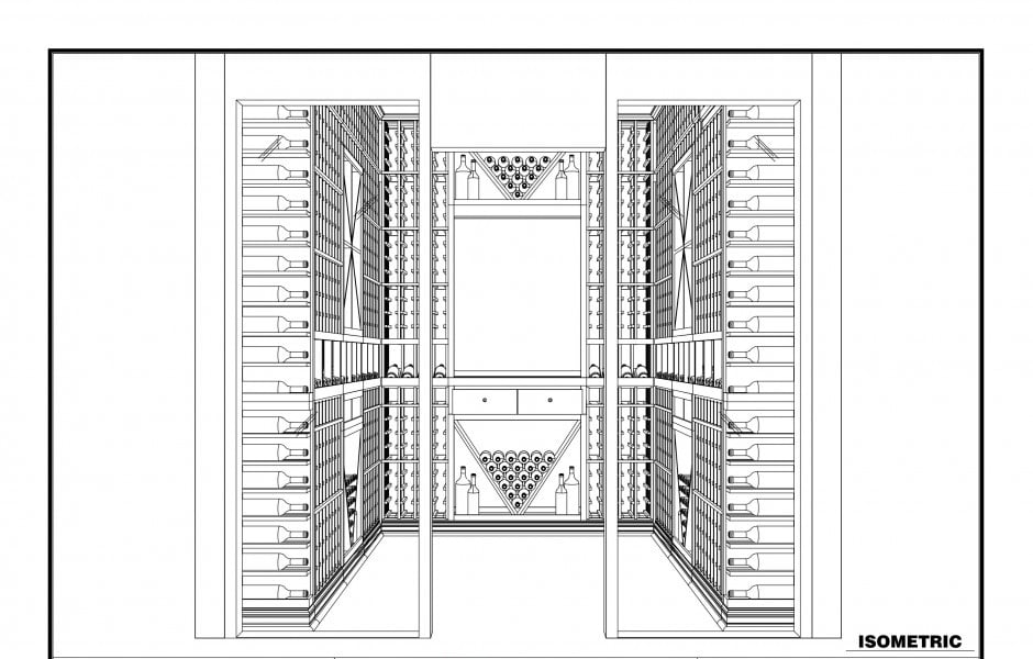 3d wine cellar blueprint design construction transformation of a storage room into a wine cellar in los angeles california malvernweather Choice Image