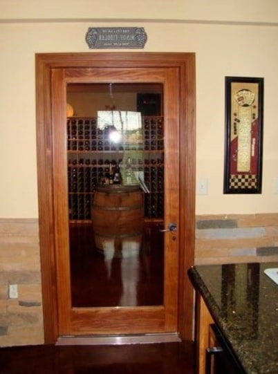 Glass Wine Cellar Door