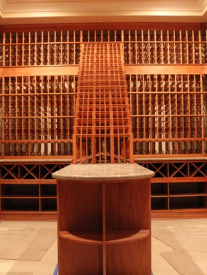 Completed Home Wine Cellar Equipped with a Refrigeration Unit