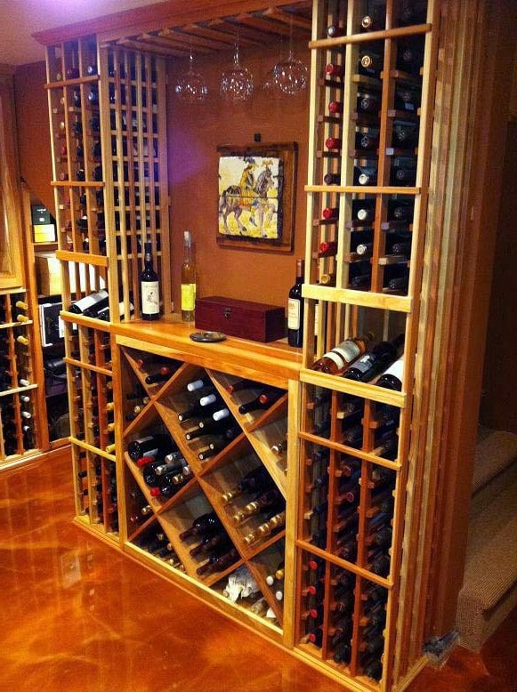 Custom Home Wine Cellar Designed by Master Builders in Los Angeles
