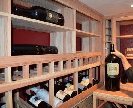 Garage Wine Cellar Wooden Racks Los Angeles Ca Los