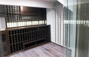 Choosing a finish for wooden racking systems here!