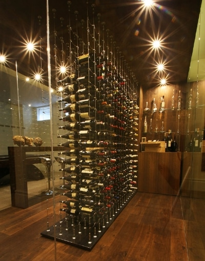 Steel displays from Cable Wine Systems