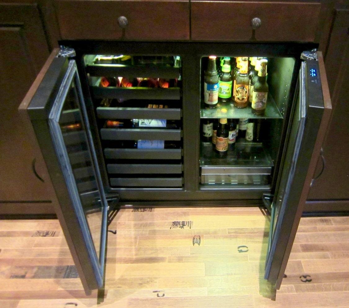 Built-in Uline brand 3036 model refrigerator Los Angeles Home Wine Cellar Builders Project