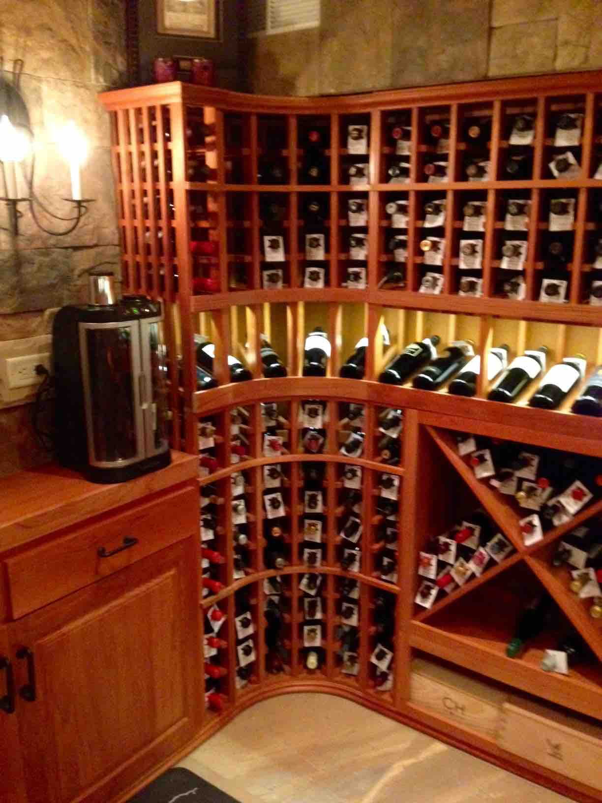 Home wine cellar design for a basement by los angeles experts for Building wine cellar