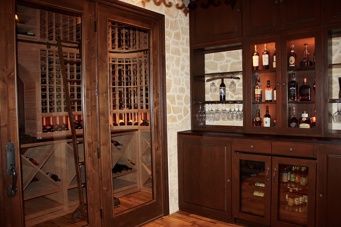 Home Wine Cellar with a Tasting Bar