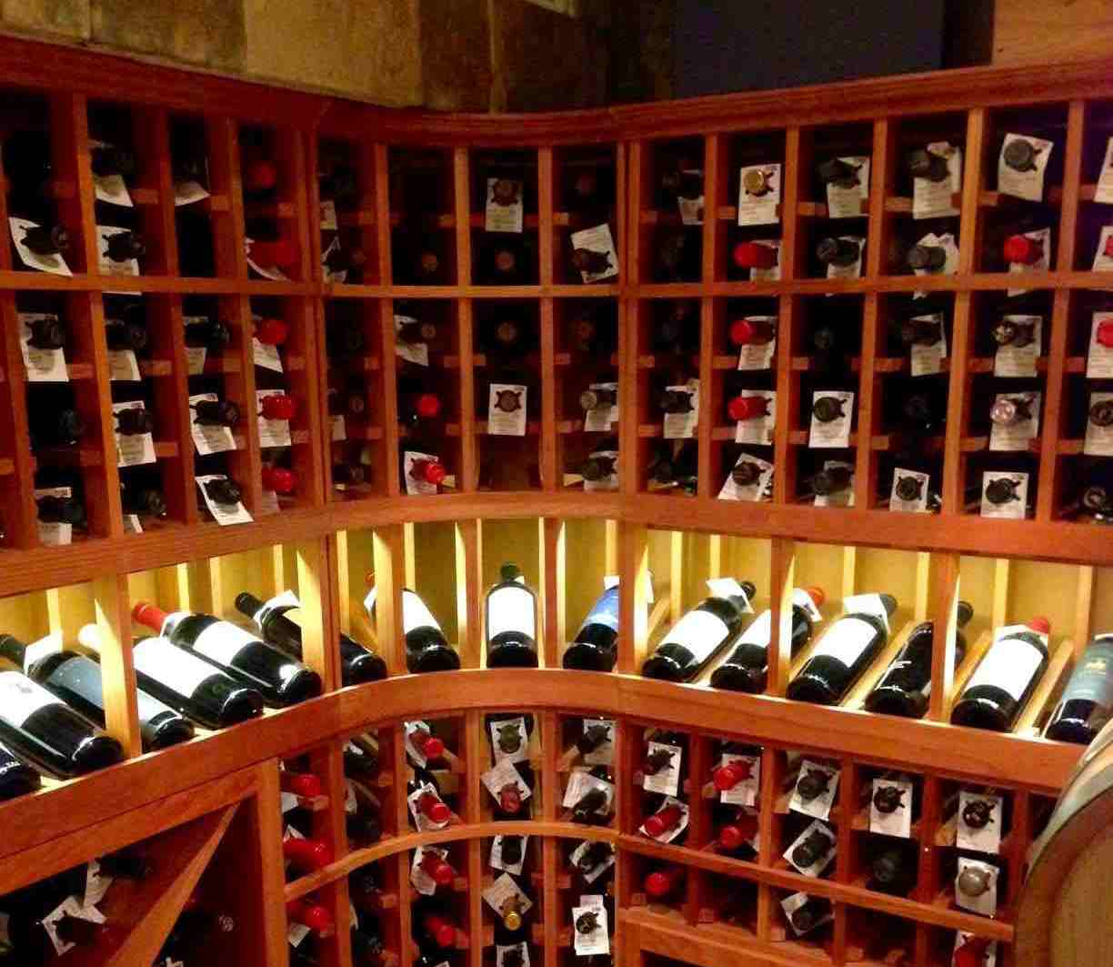 LED Puck Light and Display Row Lighting Wine Cellar Los Angeles Builders