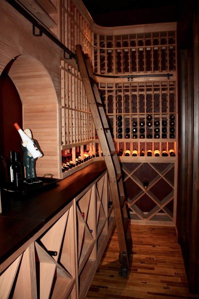 Custom Racking Home Wine Cellar Project by Los Angeles Experts