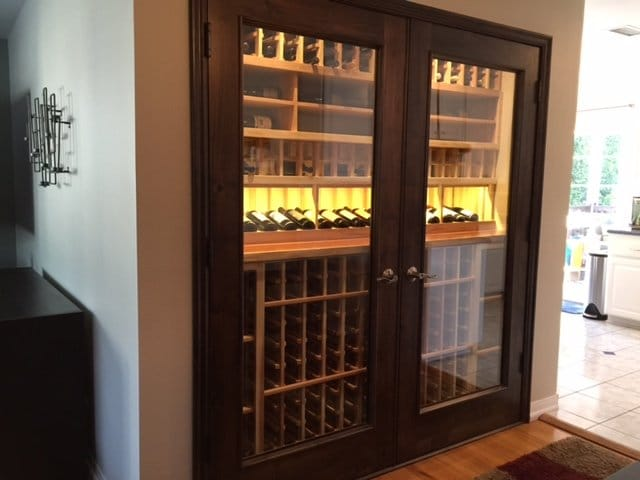 Completed Residential Custom Wine Cellar Los Angeles & A Tiny Space Turned into a Lovely Home Wine Cellar in Los Angeles