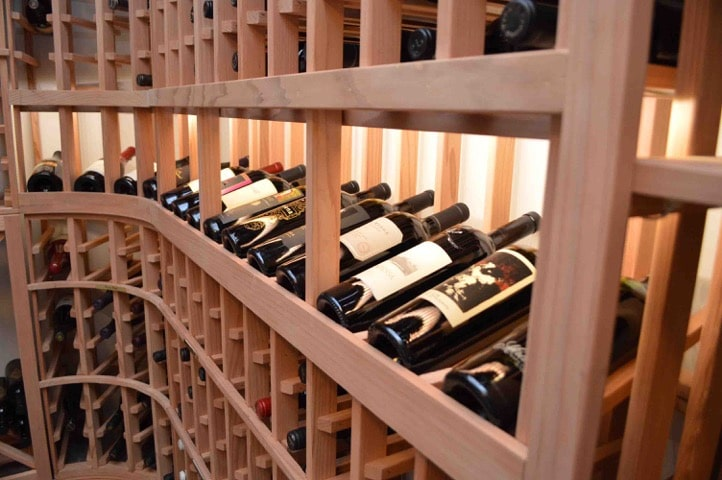 Display Row Custom Wine Rack design Los Angeles