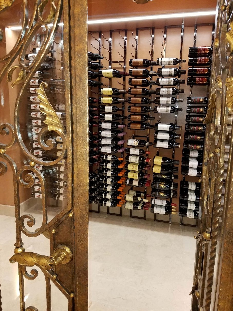 Elegant Entrance to the Home Wine Cellar in Irvine