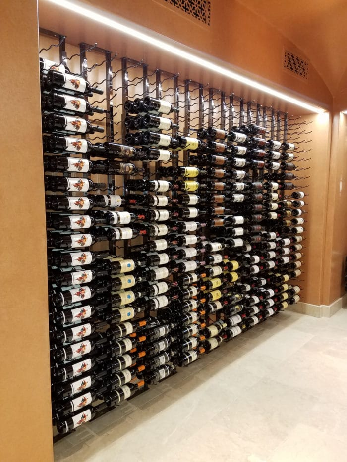 ... Master Builders Transformed a Boring Room Into a Contemporary Home Wine Cellar in Irvine Using Floor to Ceiling Metal Wine Racks & How Master Builders Transformed a Boring Room Into a Contemporary ...
