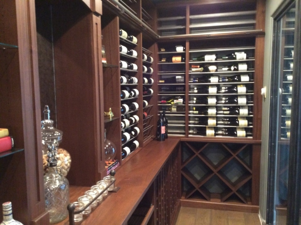 Functional Wine Rack and Cooling System Installed by Los Angeles Specialists