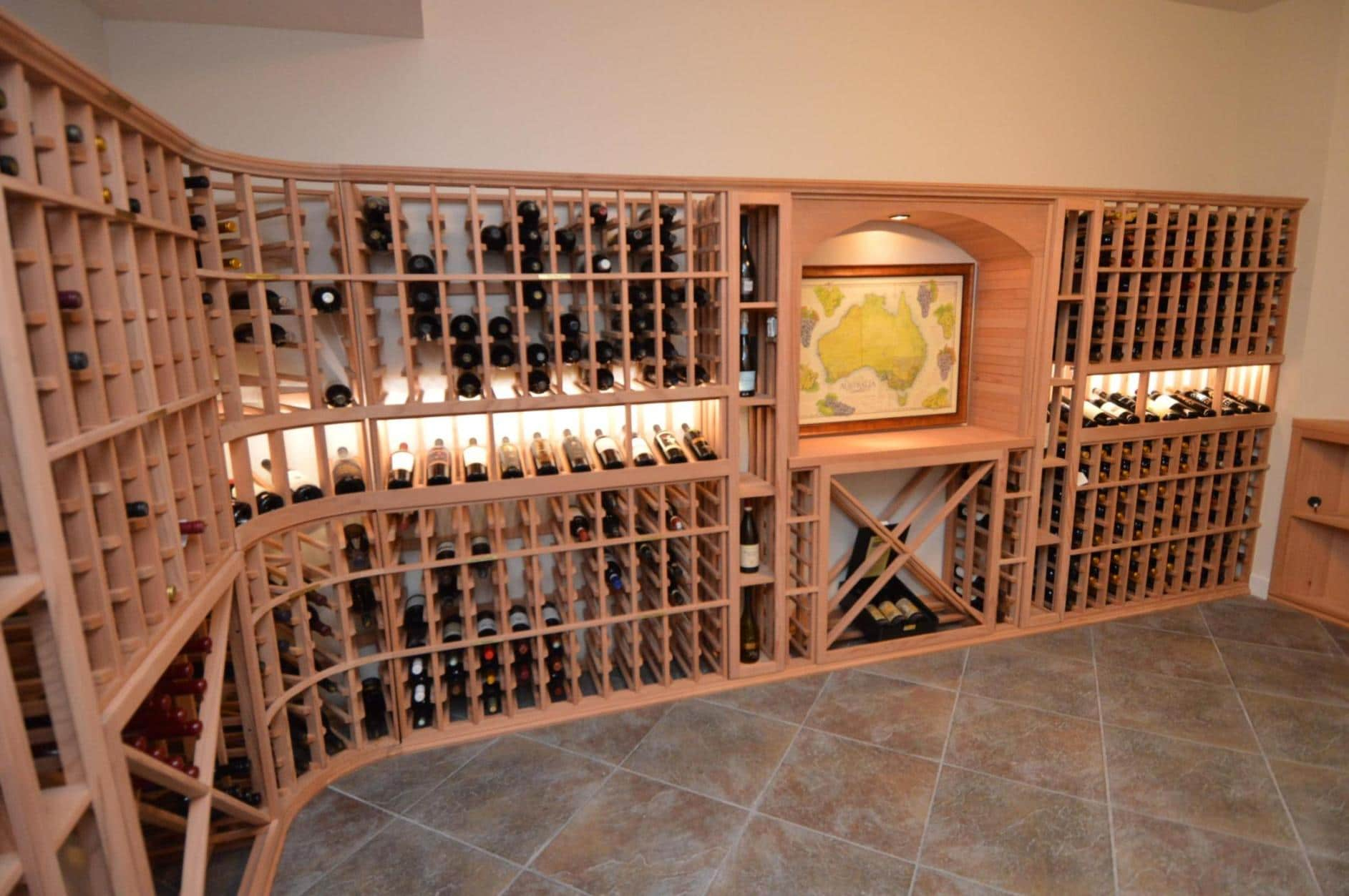 Functional Wine Racks for Los Angeles Residence