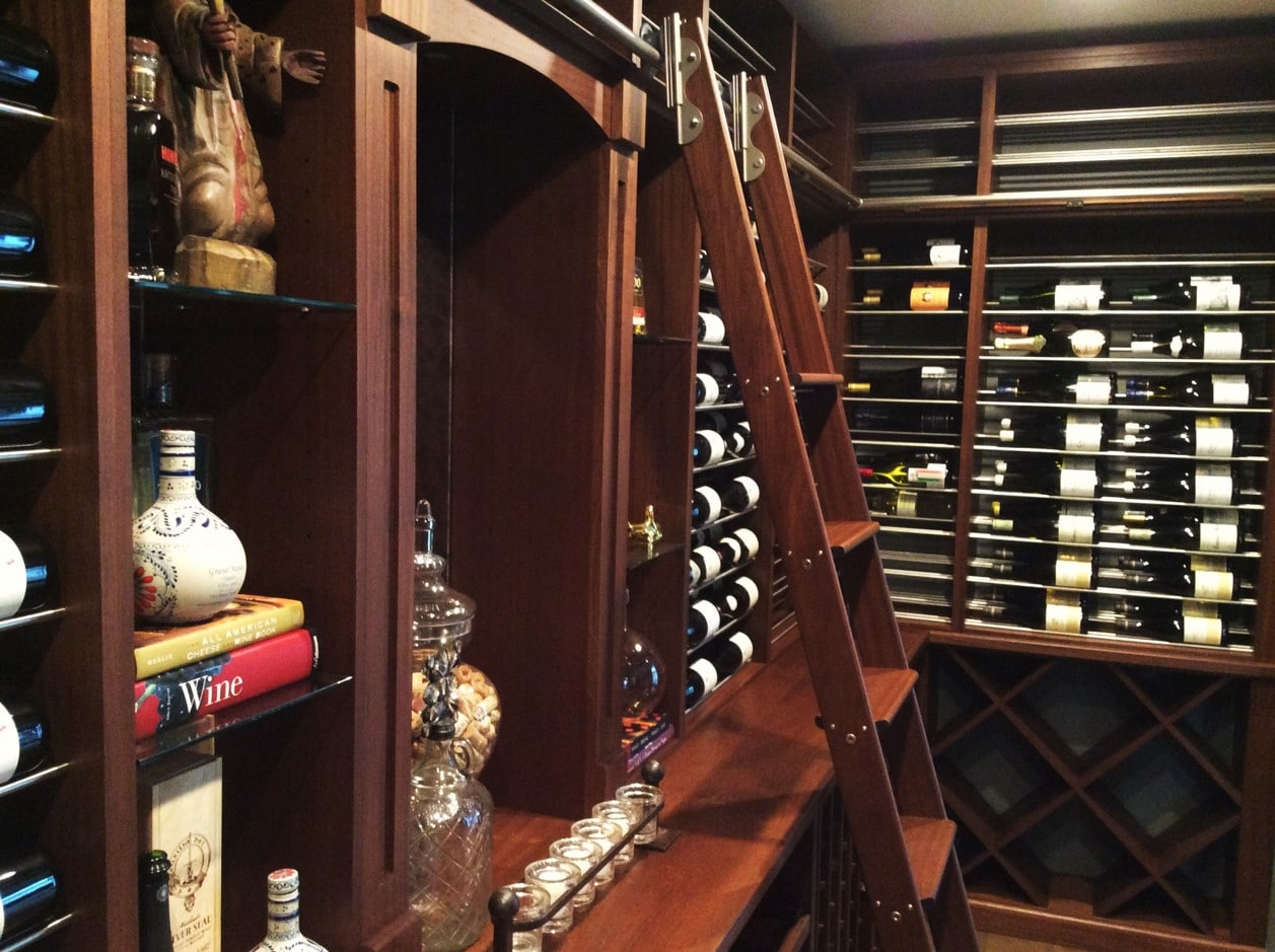 ok Home Wine Cellar with Elegant Custom Features Orange County