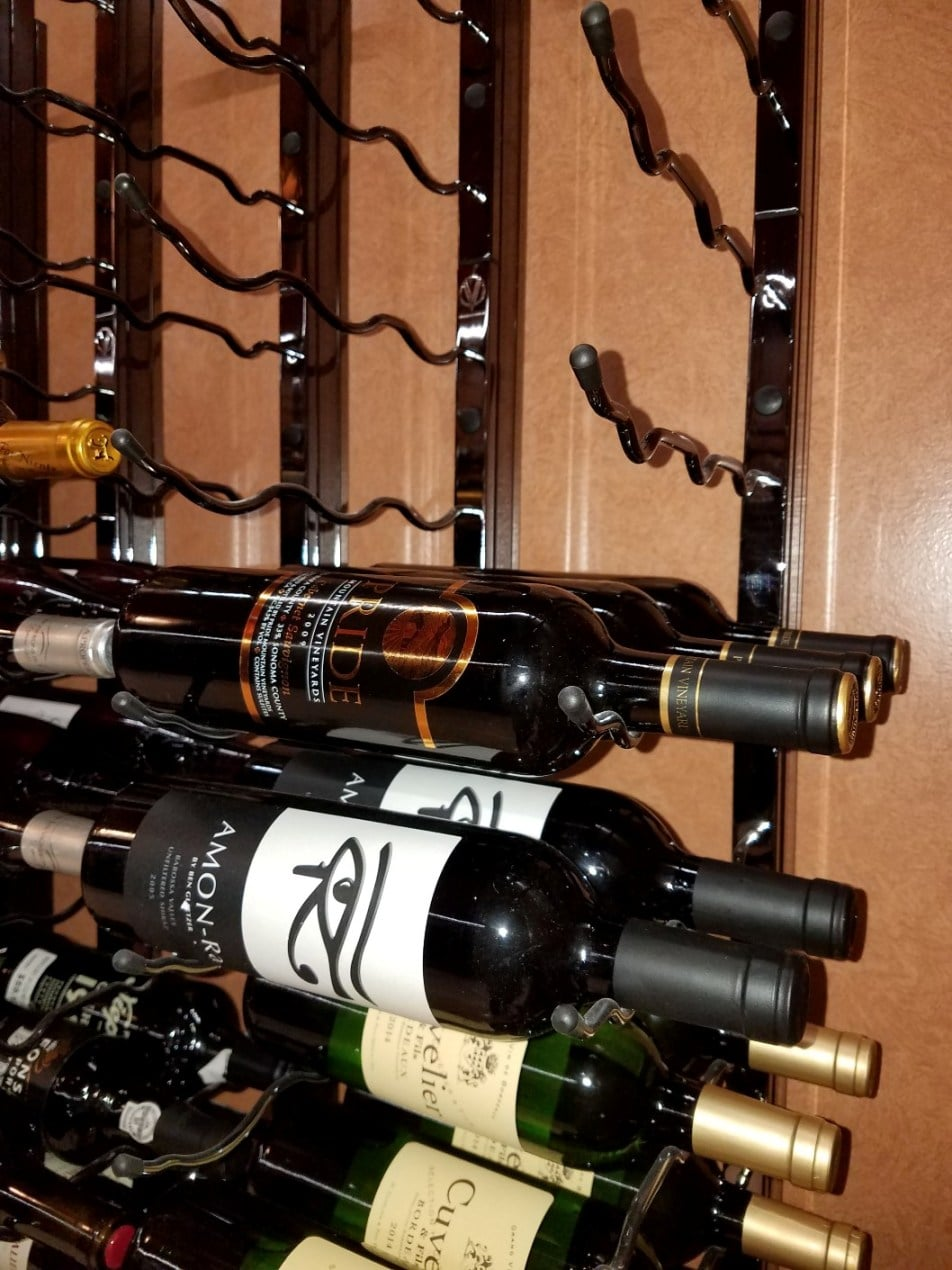 Label Forward Orientation Metal Wine Rack System