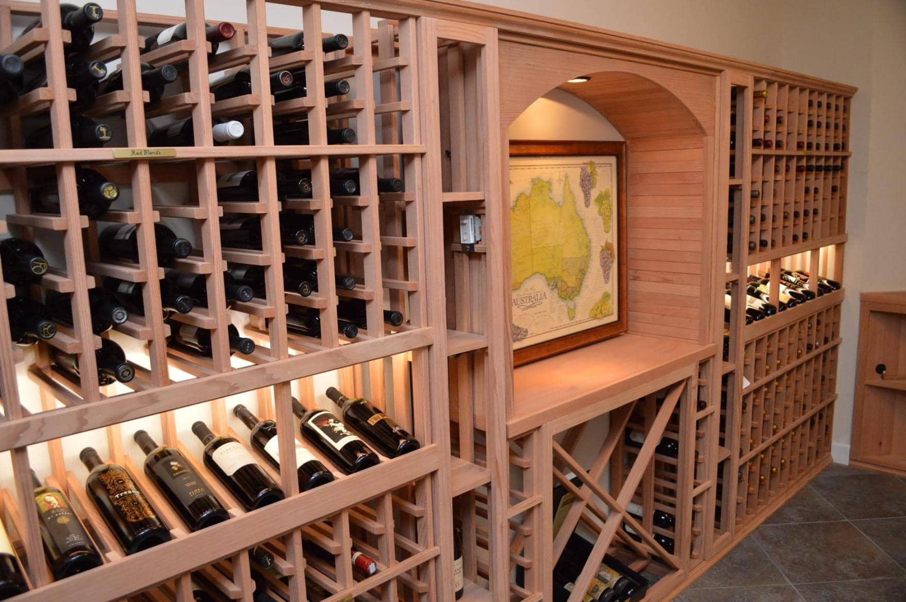 Traditional Wooden Wine Cellar Racking Los Angeles Project